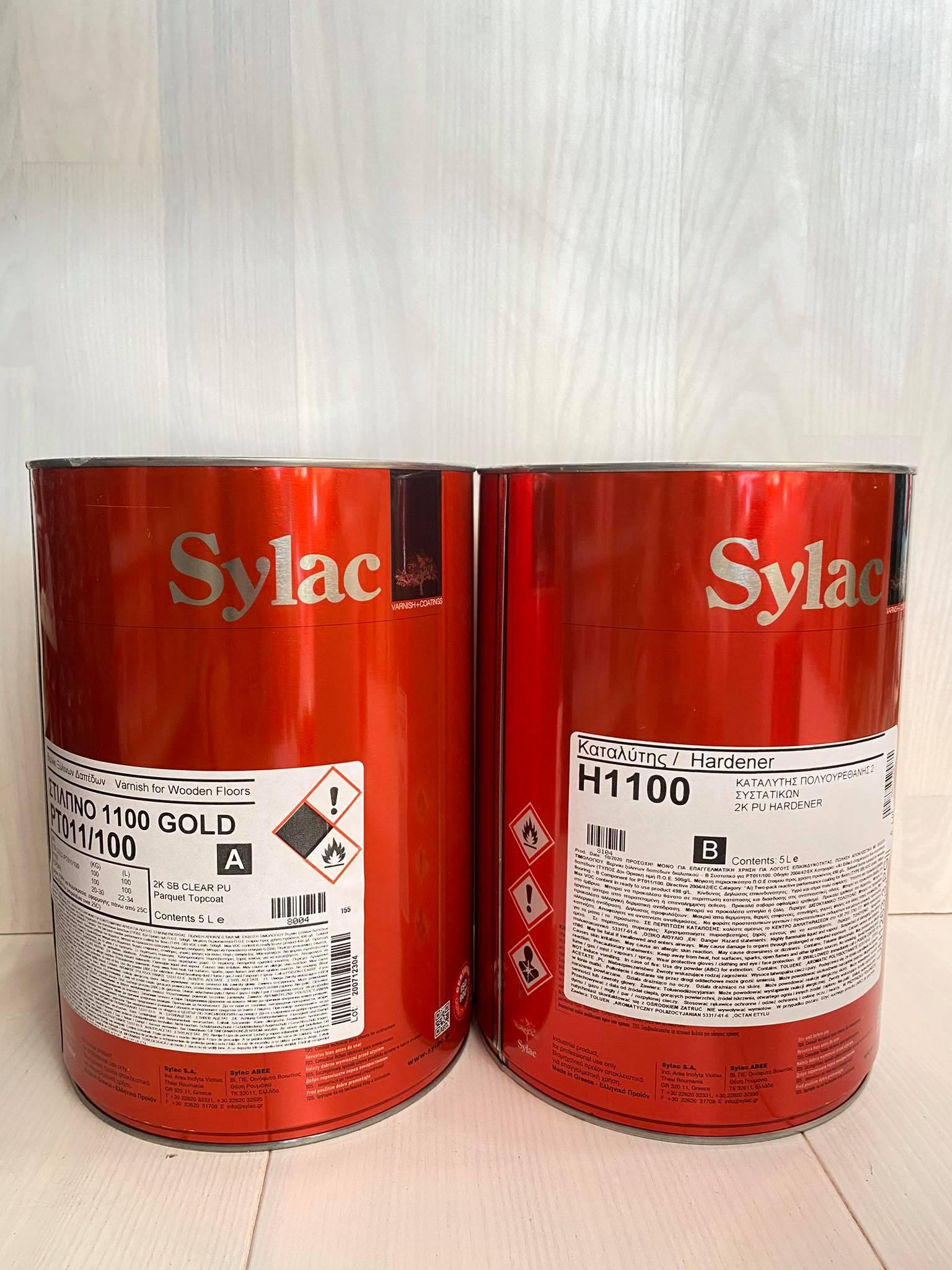 Βερνίκι πατώματος Sylac διαλύτου γυαλιστερό 5L