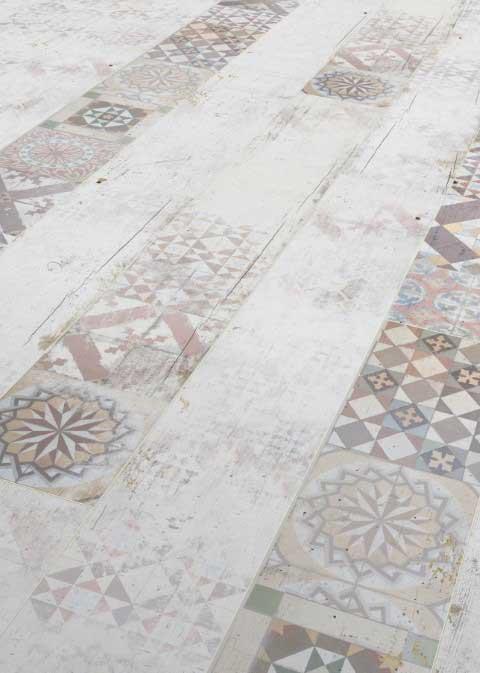 Karras - Ter Hürne - Πάτωμα Laminate Classic Line γκρι πλακάκι απόχρωση Tile Georgtown