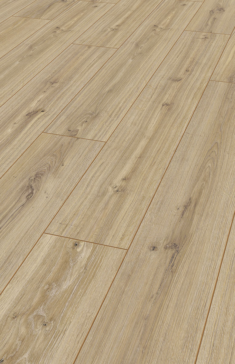 Karras - Krono Swiss - Πάτωμα Laminate Kronotex Robusto μπεζ ντεκαπέ Phalsbourg Oak