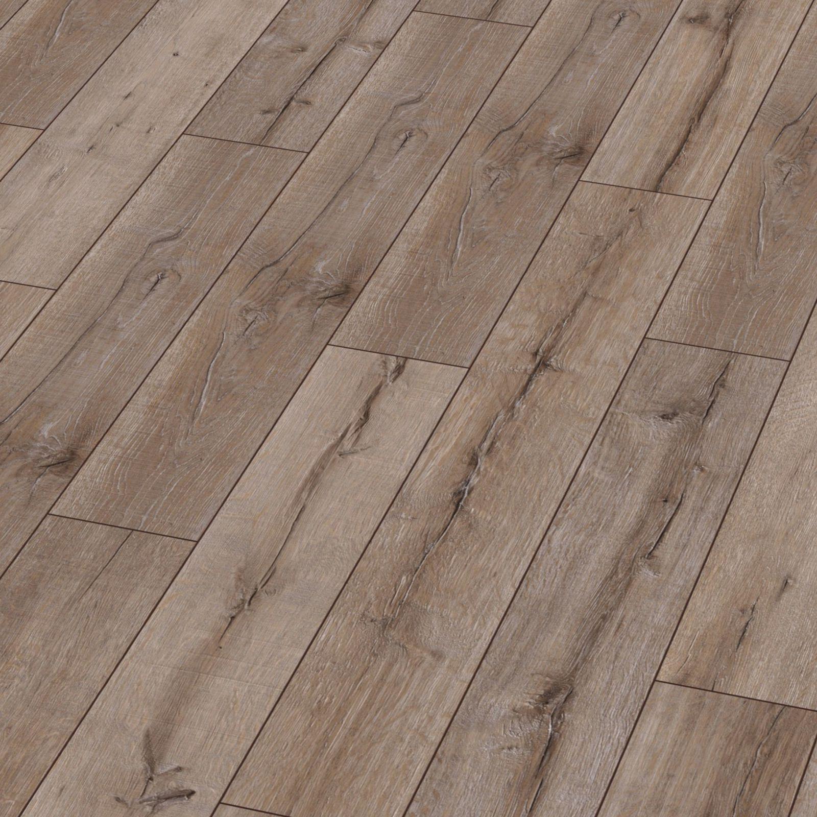 Karras - Krono Swiss - Πάτωμα Laminate Kronotex Robusto φουντουκιού με λευκά νερά απόχρωση Rip Oak